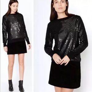 Equipment Femme Shane Black Sequin Sweater